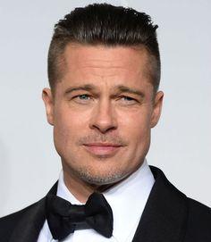 cool 40 Charming Brad Pitt Hairstyles - Many Stylish Ideas Older Mens Hairstyles, Slick Hairstyles, Undercut Hairstyles, Haircuts For Men, Hair Undercut, Brad Pitt Haarschnitt, Brad Pitt News, Short Slicked Back Hair, Short Hair Cuts