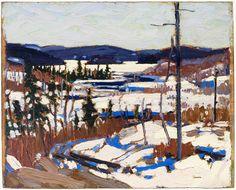 Tom Thomson Catalogue Raisonné | Early Spring, Canoe Lake, Spring 1917 (1917.08) | Catalogue entry
