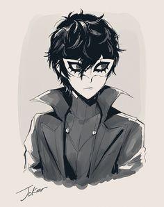 Persona 5 Joker, Persona 4, Video Game Characters, Anime Characters, Anime Manga, Anime Art, Joker Drawings, Ren Amamiya, Best Rpg