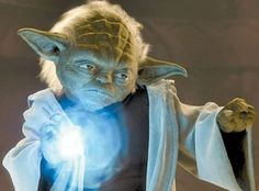 That awesome time when Yoda stopped Palpatine's lightning attack.