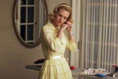 Betty Draper Mad Men long sleeved shirt dress