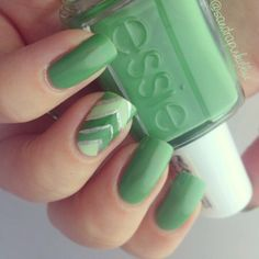 Tones of green with accent nail