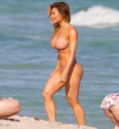 Daphne Joy – Wearing bikini on Miami beach
