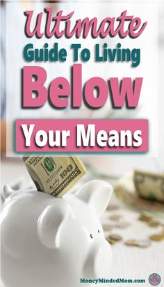 Living below your means is a must in your overall financial health. It is key to every single aspect of your finances from managing your money and budget, to living a stress-free and happy life. Read on to learn how.  finance | budget | save money | money | live below your means | manage money | debt #money #finance #savemoney #debt via @https://www.pinterest.com/moneymindedmom