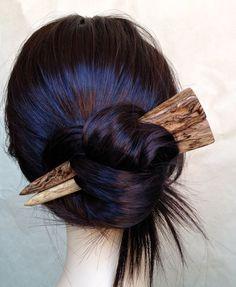 Jumbo Hair Sticks Spalted Mango Wood