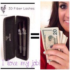 Younique 3D Fiber Lash Mascara pays my bills! Join my team! www.youniqueproducts.com/nicolegurr