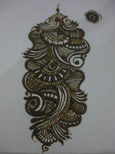 Henna on paper