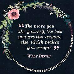 Palavras sábias por Walt Disney: Seja único, não seja uma versão de alguém!   Wise words from Walt Disney: Be unique!