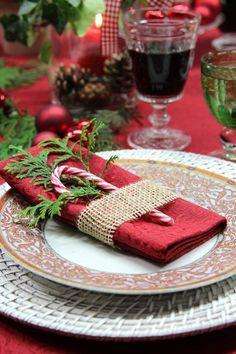 gedeckter Tisch Weihnachten