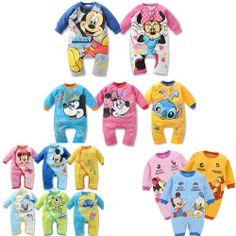 2013 children's clothing baby romper newborn bodysuit romper male ultra soft cotton Baby girls boys Mickey Minnie Kids Rompers $6.98 - 7.77