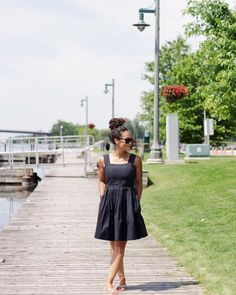 black summer dress a