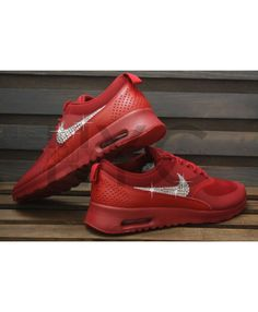 24397aca36aa8 Air Max Thea Red Bling Womens