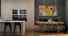 sittebenk på kjøkkenet – Google Søk Table, Furniture, Home Decor, Photo Illustration, City, Decoration Home, Room Decor, Tables, Home Furnishings