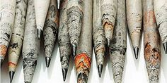 TreeSmart pencils are made from sheets of used newspaper.