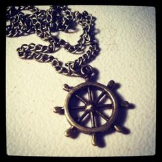 Bronze Nautical Wheel necklace by MAYOULEE | Accessories