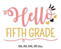 Hello Preschool SVG, Girl Hello Pre School svg, Cute Heart Back To School svg, Girls Shirt Design, F First Day Of School, Pre School, Back To School, Mermaid Coloring, Schools First, Fifth Grade, Silhouette Designer Edition, Personalized T Shirts, 5th Grades