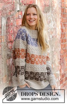 Valdres / DROPS - Free knitting patterns by DROPS Design Valdres / DROPS - Knitted pullover with raglan in DROPS Karisma. Jumper Knitting Pattern, Fair Isle Knitting Patterns, Knitting Designs, Knit Patterns, Free Knitting, Drops Design, Tejido Fair Isle, Drops Karisma, How To Purl Knit