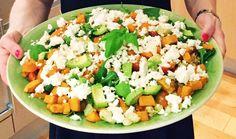 Sötpotatissallad med fetaost och avokado Vegetarian Recepies, Veggie Recipes, Baby Food Recipes, Indian Food Recipes, Healthy Cooking, Healthy Snacks, Healthy Eating, Healthy Recipes, Avocado