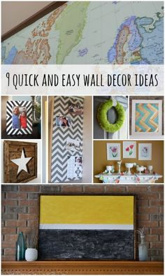 Wall Decor Ideas and Tutorials via Remodelaholic.com #wall #decor #tutorials