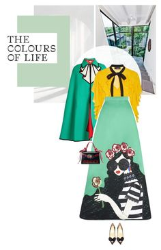 """""""Untitled #867"""" by girl-with-ideas ❤ liked on Polyvore featuring Gucci, Sachin + Babi, Alice + Olivia and Christian Louboutin"""