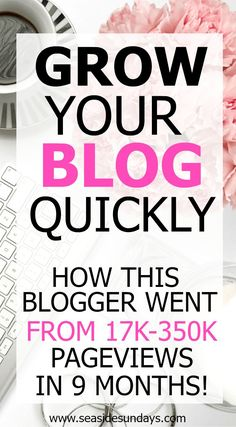 How this blogger increased her blog traffic in just 10 months! Her blog income grew to over $7000! Tips for growing your blog and increasing your page views. How to use Google +, Pinterest, Facebook and other social media platforms. If you want to grow yo