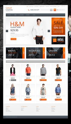 Casual Clothes Store OpenCart Template E-commerce Templates, OpenCart Templates, Fashion & Beauty, Fashion Templates, Fashion Store Templates Fashion Website Design, Custom Website Design, Shopping Websites, Online Shopping Clothes, Casual Clothes, Casual Outfits, Video Games For Kids, Fashion Websites, Fashion Online