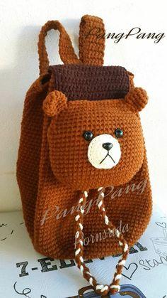 New crochet toys for kids fun ideas Crochet Bear, Baby Blanket Crochet, Crochet For Kids, Crochet Toys, Baby Knitting Patterns, Knitting Yarn, Crochet Patterns, Crochet Handbags, Crochet Purses