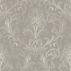 Interior Place - Silver White BR6268 Linear Damask Wallpaper, $27.94 (http://www.interiorplace.com/silver-white-br6268-linear-damask-wallpaper/)