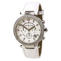 Michael Kors Watches Collection 2018 / 2019 : Michael Kors Watches Parker Watch (White/Rose Gold) >>> See this great product. - Watches Topia - Watches: Best Lists, Trends & the Latest Styles Web Design, Stainless Steel Bracelet, Luxury Jewelry, Fashion Watches, Michael Kors Watch, White Leather, Watches For Men, Wrist Watches, Chronograph