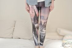 WITCH'S CASTLE LEGGINGS Printed Leggings/Sport Skinny Pants/Designed Women Stretch Leggings/Summer Yoga Hip Hop Tights dfb45 by KOMAWO on Etsy https://www.etsy.com/listing/231100350/witchs-castle-leggings-printed