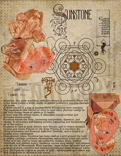 Sunstone (Heliolite), Book of Shadows printable page. Wiccan Spells, Witchcraft, Crystals And Gemstones, Stones And Crystals, Alchemy, Grimoire Book, Crystal Magic, Practical Magic, Book Of Shadows