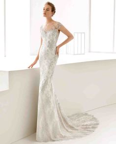 Rosa Clará Fall 2017 Wedding Dress Collection | Martha Stewart Weddings – Sleeveless mermaid wedding dress