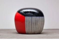 Jun Kaneko, Untitled, 2012, glazed ceramics, 39 x 46 x 34 in. At the Gerald Peters Gallery, Santa Fe, NM.