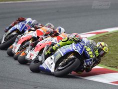 2014 Catalunya MotoGP - Valentino Rossi, Marc Marquez, Dani Pedrosa and Jorge Lorenzo - Image courtesy of Yamaha