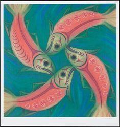 """Salmon Homecoming"" by Susan Point (Coast Salish)."