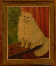 Cat Oil Painting - looks like my Nilla!