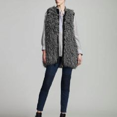 Fall 2012 by Stella McCartney..faux fur vest and skinny jeans are still fashion staples for your fall wardrobe