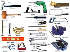 4th junior high english class: VOCABULARY - Tools