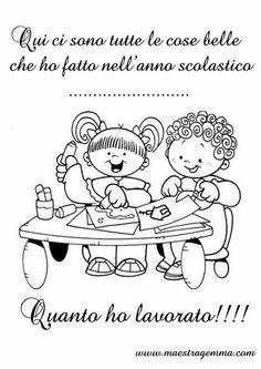 www.maestragemma.com cornicette_copertine_raccogliere_lavori.htm All Kids, Montessori, Snoopy, Comics, School, Fictional Characters, Anna, Party, Classroom Setting