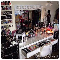 Ultimate make-up collection and vanity