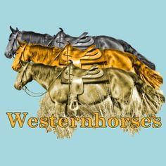 "Western Casualdress-Motiv ""Westernhorses"" von Elke Stürznickel"