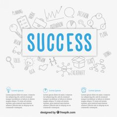 Business success background Free Vector