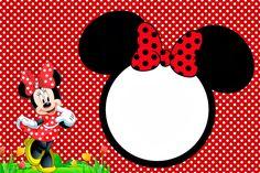 Imprimibles Gratuitos e Invitaciones para Fiestas de Minnie rojo.