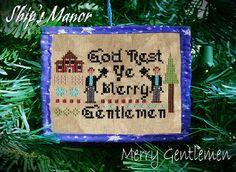 Merry Gentlemen!  Pattern, Fabric and Christmas Tree Needle Minder