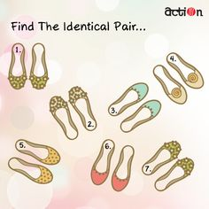 Let's see how quick you guys are! Can you tell us the identical pairs?