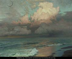 Ebbing Waters - Frederick Judd Waugh - WikiGallery.org, the ...