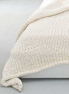 Chunky stockinette cream wool blanket- love the look, but I have no idea where to find a circular needle long enough to knit it!