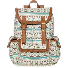 SM New York Floral Print Cargo Backpack ($20) ❤ liked on Polyvore featuring bags, backpacks, accessories, white backpacks, flap backpack, draw string backpack, buckle backpacks and white drawstring backpack