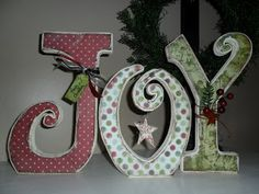 Christmas letters-hang vertical