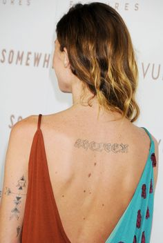 From Erin Wasson to Cara Delevingne: The Coolest Model Tattoos Ever via @WhoWhatWear